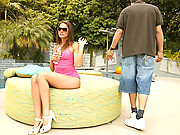 Super hot ass porn star long leg babe gets picked up by the pool then fucked hard and cumfaced in these amazing fucking vids