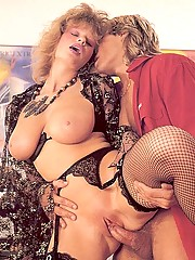 Big titted retro mom loves a load on her face
