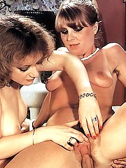 Two hairy teenie seventies girls sucking dick