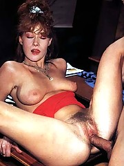 Horny seventies girl giving a good blowjob