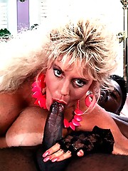 Busty seventies lady loves a big black dick