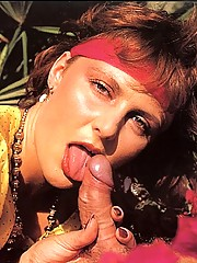 Trimmed seventies lady double stuffed hard