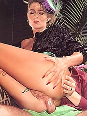 Sexy classy eighties lady stuffed in her ass