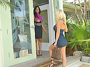 Super hot big tits lebian molly invites her girl over for her bachlorette party in these hot lesbo licking strap on fucking vids