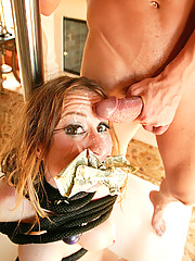 MILF slut gets her breast pumped and fucked hard in her pussy!