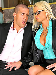 Super hot ass big tits blonde rhylee richards her her juicy box rammed after sucking on her employees cock in these hot office fucking pics and big movie