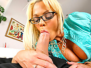 Super hot fucking big tits babe sucks on her employees big cock in these hot office fucking cumfaced vids