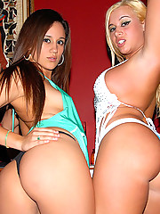 Check out these hot babe fuckeachother on the club bar then take dong in these hot after hour fuck vids
