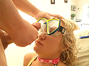 Cute teen swimmer Addison gets a real pussy workout from her coach!