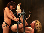 2 hot girls suffer though a live BDSM shoot! 3hours of torture.