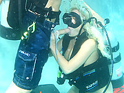 Busty Diver getting the monster cock of the underworld