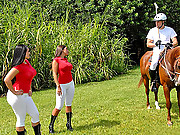 Check out these hot big booty latinas ride horses playing a game of polo then share some hot cock on the back of a pickup truck in these banging amaing reality vids