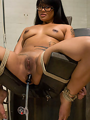 Dragonlily takes her first on camera enema...