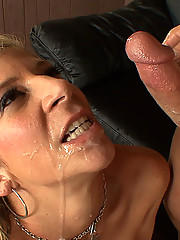 Big assed and big tittied blonde cougar gets fucked by a young stud
