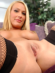 Beautiful blonde milf shows off her hot body