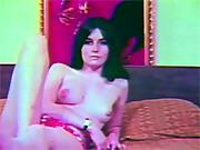 Retro sixties hairy and horny chick screwing