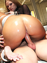 Madison James is tied up, sucks cock, cum swaps and gets fucked and disgraced while getting drenched in cum!