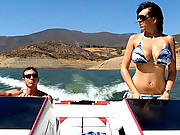 Hot ass bikini babe alia gets her mega knockers rocked and her juice box banged hard after a fast ride on the boat in these hot vids