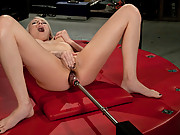 HOT flawless 21 yr old blond amateur does debut machine fucking, DP and anal!