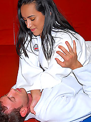 Watch this hot round ass latina black belt ninja getg fucked hard by the instructor in these hot pics and big hd video widescreen