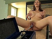 Raven Alexis machined fucked in her own home, huge dongs!