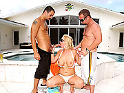Chec out this hot blonde milf tiffany get dp by the pool in this hot cock sucking pussy fucking 4 video gally