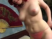 Stacked mature sucks hard cock