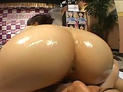 Rio Hamasaki Asian doll gives a titty fuck then goes for a cock ride in her room
