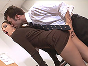 Jenna Haze nasty in the office fucking and sucking off co-worker Getting His Jizz