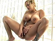 Shyla Stylez masturbates hard in the shower