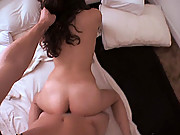 Brunette amateurs homemade sex video with her boyfriend