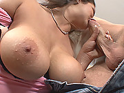 Busty Milf April Blossom Skammed And Blasted With Hot Cock Milk