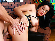 Busty Bitch fucking the artists huge dick