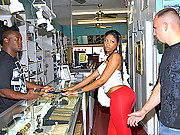 Big hot ass black latina gets picked up at a pawn shop looking to make some cash then gets her black box banged in the backroom in these hot 4 reality fucking vids