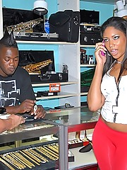 Hot ass big booty latina was spotted in a pawn shop trying to make money so offered some in return for her ass