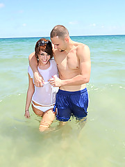 Amazing hot ass big tits bikini babe gets drilled hard after a wet smin in the ocean in these hot big pics and big hd movie