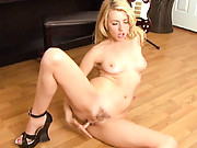 Awesome hot Lexi Belle looks great and bangs her pussy