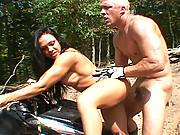 Cherokee gets her tits cum covered after getting nailed by a massive cock