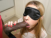 Blonde babe Kayla Marie fucked from behind by Mandingo\