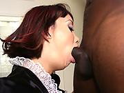 Katsuni gets ebony  cock slammed by Mandingo before taking some splooge all over the face