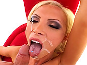 Nikki Benz drilled in chair by Jules Jordans mega cock before getting facialized