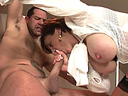 Bondaged mature lady sonia blowjob