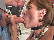 Lady sonia forced to give a blowjob