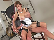 Busty mature french maid lady sonia