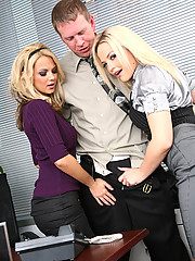 Ashlynn Brooke And Alexis Texas Fucking Co-worker On Desk