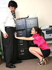Elizabeth Ann Rides Hard Cock In File Room