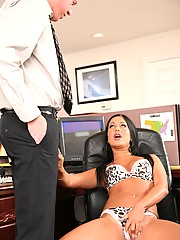 Angelica Heart Crams Her Mouth And Pussy With Cock
