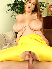 Terry in her tight yellow spandex catsuit she looks so hot