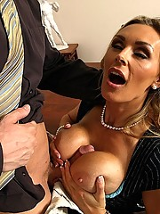 Tanya Tate gets a taste of the cock blockers big dick