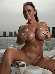 Chillin on the beach with big titted Sophie Dee